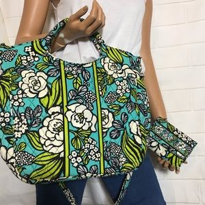 Vera Bradley Limes Up Convertible Bag+ Wallet